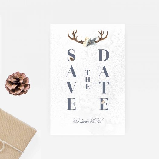 Save the date mariage hiver