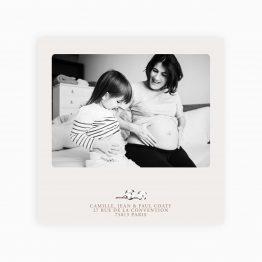 carte remerciment bébé