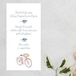 carton menu mariage champetre