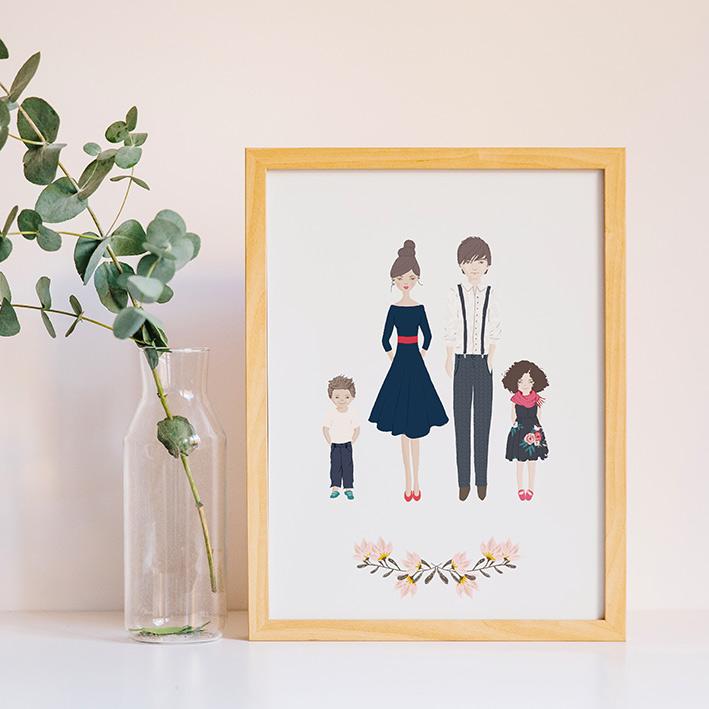affiche personnalisée famille