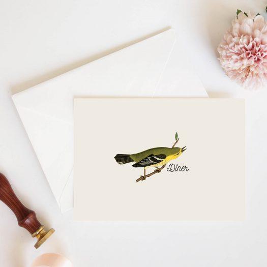 carton diner mariage botanique