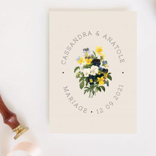 Faire part mariage champêtre