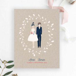 faire-part mariage couple mariés