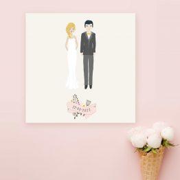 faire part mariage dessin mariés