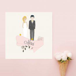 Carte remerciement mariage