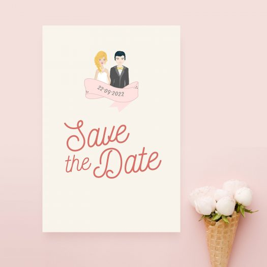 Save the date dessin couple