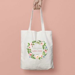 Tote bag EVJF fleurs