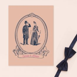 faire part mariage vintage
