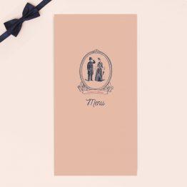 menu mariage vintage