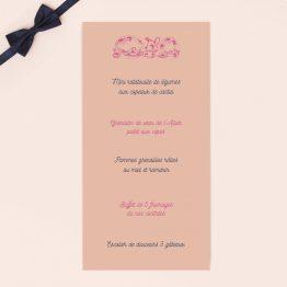 menu mariage personnalisable