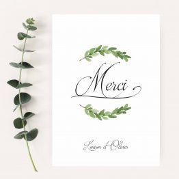 carte remerciement mariage personnalisé