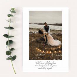 carte remerciement photo mariage