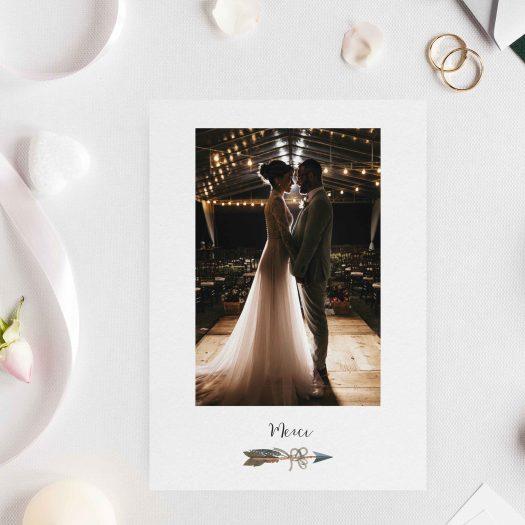 carte merci mariage photo