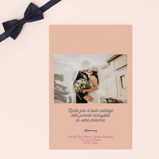 carte merci mariage photo