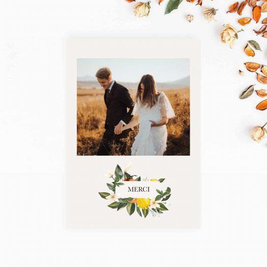 Merci photo mariage