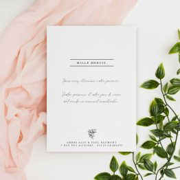 carte remerciement apres mariage