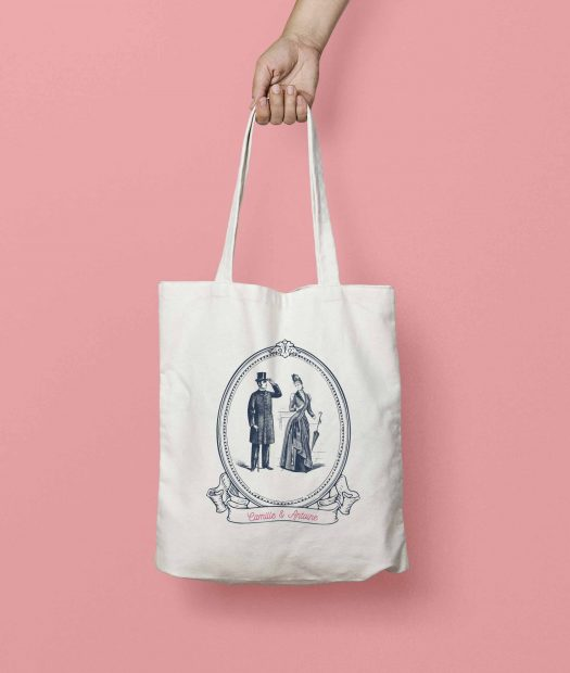 tote bag personnalisable mariage