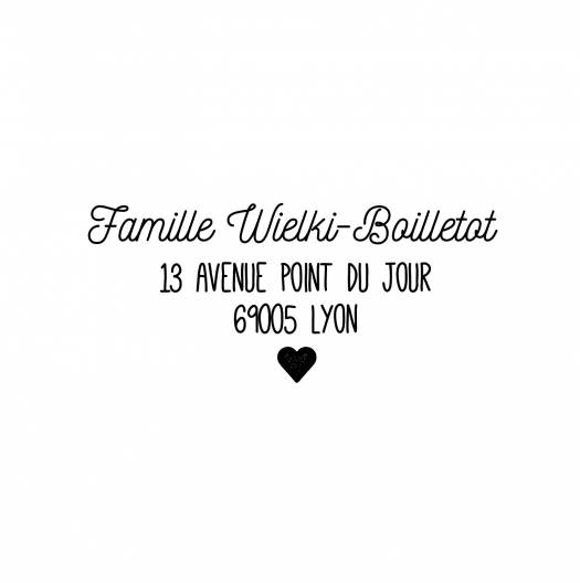 Tampon adresse famille