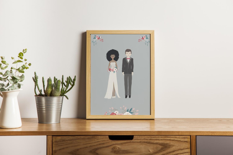 affiche mariés personnalisés