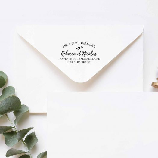 tampon adresse enveloppe mariage
