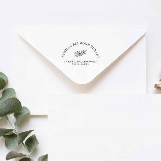 tampon adresse enveloppe