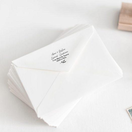 tampon adresse mariage