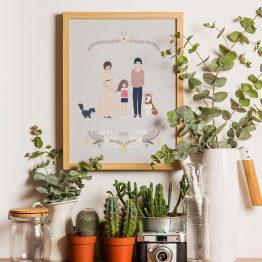 Portrait de famille sur mesure