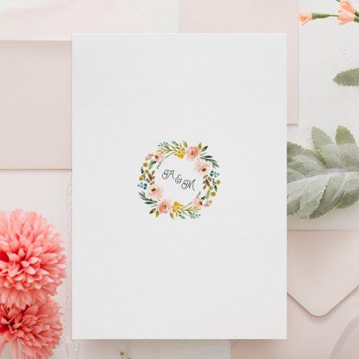 faire part mariage couronne fleurs