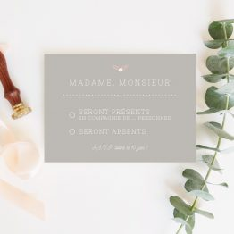 rsvp mariage champetre