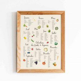 Calendrier Fruits légumes