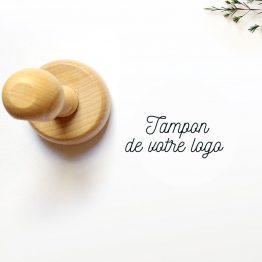 Tampon bois logo