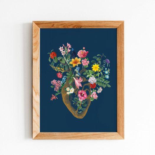 Poster vintage fleurs