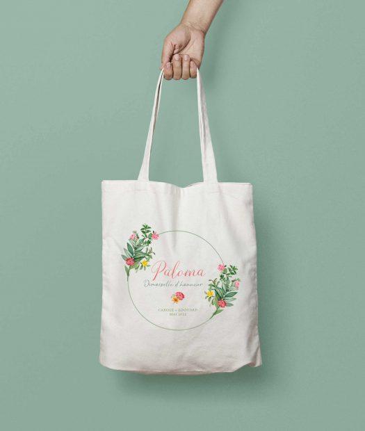 tote bag personnalisé demoiselle d'honneur
