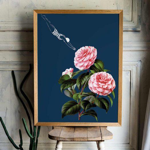 illustration vintage fleurs