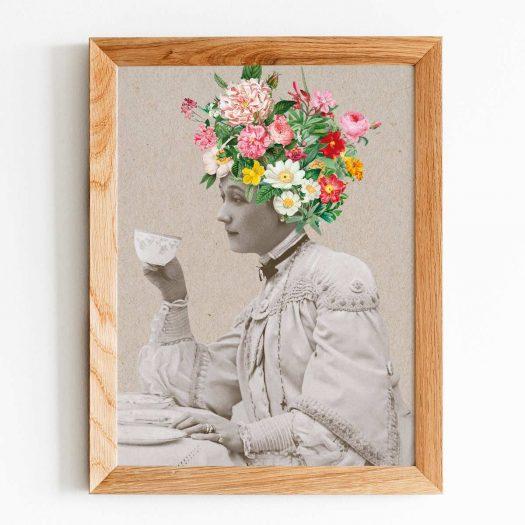 Poster femme vintage