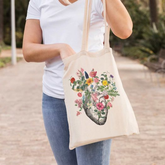 Tote bag fleurs