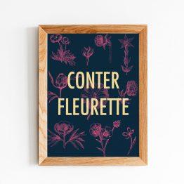affiche moderne fleurs