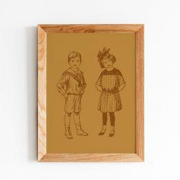 affiche chambre enfant vintage