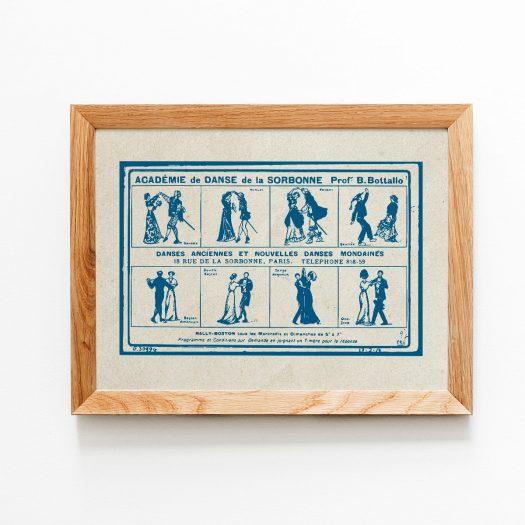 Affiche danse vintage