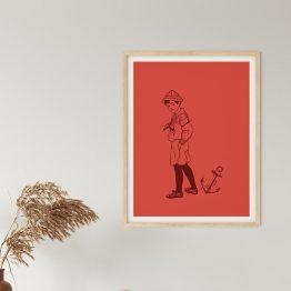 Affiche enfant vintage