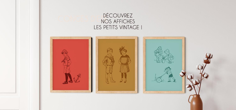 Poster vintage enfant